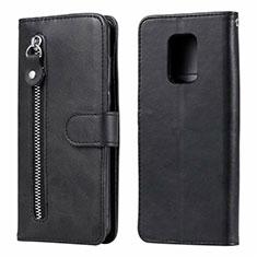 Funda de Cuero Cartera con Soporte Carcasa L07 para Xiaomi Redmi Note 9 Pro Negro