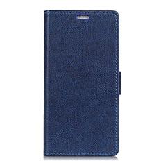 Funda de Cuero Cartera con Soporte Carcasa L08 para Asus Zenfone 5 ZE620KL Azul