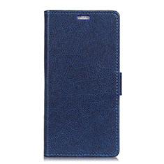 Funda de Cuero Cartera con Soporte Carcasa L08 para Asus Zenfone 5 ZS620KL Azul