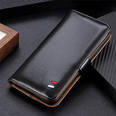 Funda de Cuero Cartera con Soporte Carcasa L08 para Huawei Y5p Negro