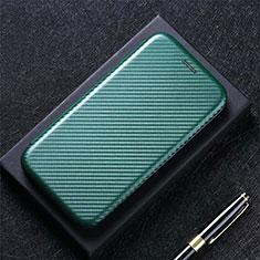 Funda de Cuero Cartera con Soporte Carcasa L08 para Huawei Y7a Verde