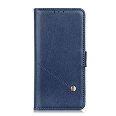 Funda de Cuero Cartera con Soporte Carcasa L08 para LG Q52 Azul