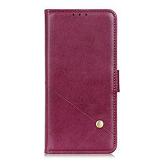 Funda de Cuero Cartera con Soporte Carcasa L08 para LG Q52 Rojo Rosa