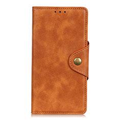 Funda de Cuero Cartera con Soporte Carcasa L08 para Samsung Galaxy M01 Core Naranja