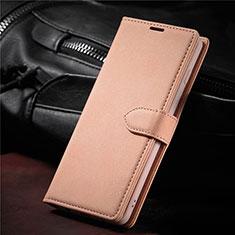 Funda de Cuero Cartera con Soporte Carcasa L08 para Samsung Galaxy S21 5G Oro Rosa