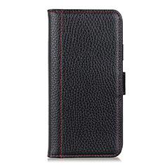 Funda de Cuero Cartera con Soporte Carcasa L08 para Samsung Galaxy XCover Pro Negro