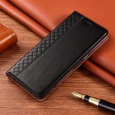 Funda de Cuero Cartera con Soporte Carcasa L08 para Xiaomi Poco X3 NFC Negro