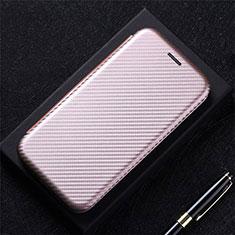 Funda de Cuero Cartera con Soporte Carcasa L09 para LG K52 Oro Rosa