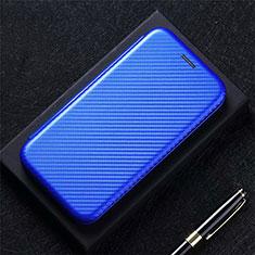 Funda de Cuero Cartera con Soporte Carcasa L09 para LG Q52 Azul