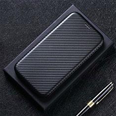 Funda de Cuero Cartera con Soporte Carcasa L09 para LG Q52 Negro