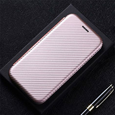 Funda de Cuero Cartera con Soporte Carcasa L09 para LG Q52 Oro Rosa