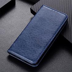 Funda de Cuero Cartera con Soporte Carcasa L09 para Motorola Moto G 5G Azul