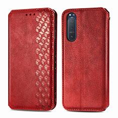 Funda de Cuero Cartera con Soporte Carcasa L09 para Sony Xperia 5 II Rojo