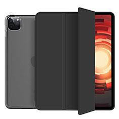 Funda de Cuero Cartera con Soporte Carcasa L10 para Apple iPad Pro 12.9 (2020) Negro