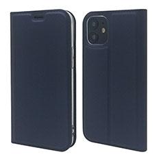 Funda de Cuero Cartera con Soporte Carcasa L10 para Apple iPhone 12 Mini Azul Real