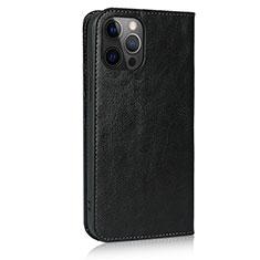 Funda de Cuero Cartera con Soporte Carcasa L10 para Apple iPhone 12 Pro Max Negro