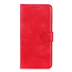 Funda de Cuero Cartera con Soporte Carcasa L10 para Huawei Y5p Rojo