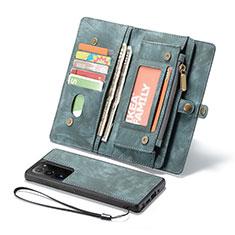 Funda de Cuero Cartera con Soporte Carcasa L10 para Samsung Galaxy Note 20 Ultra 5G Verde