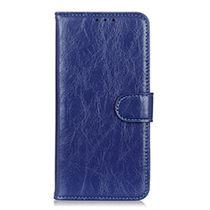 Funda de Cuero Cartera con Soporte Carcasa L11 para Huawei Enjoy 10S Azul