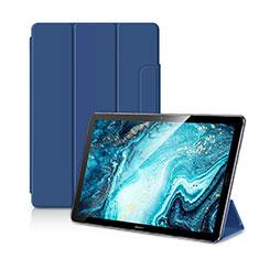 Funda de Cuero Cartera con Soporte Carcasa L11 para Huawei MediaPad M6 10.8 Azul