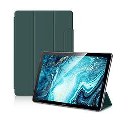 Funda de Cuero Cartera con Soporte Carcasa L11 para Huawei MediaPad M6 10.8 Verde