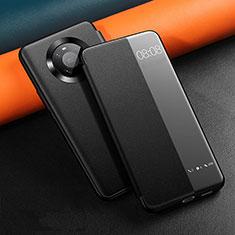 Funda de Cuero Cartera con Soporte Carcasa L12 para Huawei Mate 40 Pro Negro