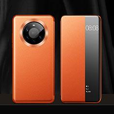 Funda de Cuero Cartera con Soporte Carcasa L12 para Huawei Mate 40 Pro+ Plus Naranja