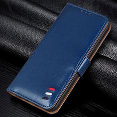 Funda de Cuero Cartera con Soporte Carcasa L12 para Samsung Galaxy M21s Azul