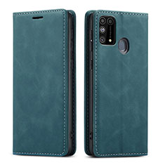 Funda de Cuero Cartera con Soporte Carcasa L15 para Samsung Galaxy M21s Verde