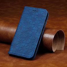 Funda de Cuero Cartera con Soporte Carcasa L17 para Huawei P40 Lite E Azul