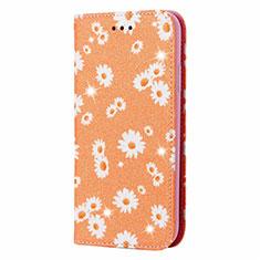 Funda de Cuero Cartera con Soporte Carcasa N05 para Samsung Galaxy Note 20 Ultra 5G Naranja