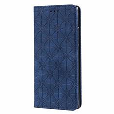 Funda de Cuero Cartera con Soporte Carcasa N06 para Samsung Galaxy Note 20 Ultra 5G Azul