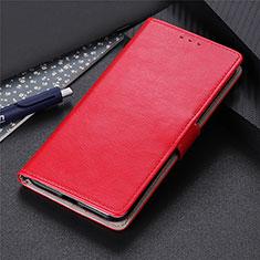 Funda de Cuero Cartera con Soporte Carcasa N07 para Huawei P40 Rojo