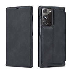 Funda de Cuero Cartera con Soporte Carcasa N09 para Samsung Galaxy Note 20 5G Negro