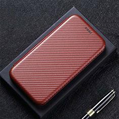 Funda de Cuero Cartera con Soporte Carcasa N10 para Huawei P40 Marron