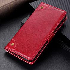 Funda de Cuero Cartera con Soporte Carcasa N10 para Samsung Galaxy Note 20 Ultra 5G Rojo