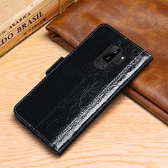 Funda de Cuero Cartera con Soporte Carcasa P01 para Samsung Galaxy S9 Plus Negro