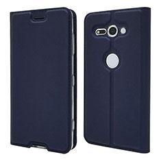 Funda de Cuero Cartera con Soporte Carcasa P01 para Sony Xperia XZ2 Compact Azul