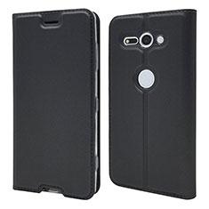 Funda de Cuero Cartera con Soporte Carcasa P01 para Sony Xperia XZ2 Compact Negro