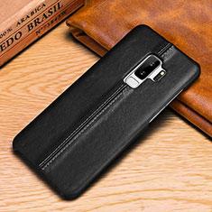 Funda de Cuero Cartera con Soporte Carcasa P03 para Samsung Galaxy S9 Negro
