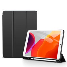 Funda de Cuero Cartera con Soporte Carcasa para Apple iPad 10.2 (2020) Negro