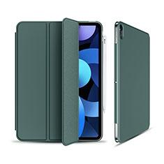 Funda de Cuero Cartera con Soporte Carcasa para Apple iPad Air 4 10.9 (2020) Verde