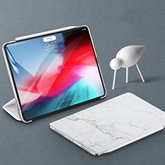 Funda de Cuero Cartera con Soporte Carcasa para Apple iPad Pro 11 (2018) Blanco