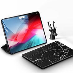 Funda de Cuero Cartera con Soporte Carcasa para Apple iPad Pro 11 (2018) Negro