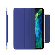Funda de Cuero Cartera con Soporte Carcasa para Apple iPad Pro 12.9 (2020) Azul