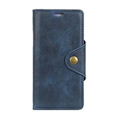 Funda de Cuero Cartera con Soporte Carcasa para HTC Desire 12 Plus Azul