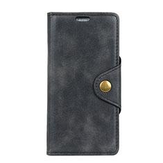 Funda de Cuero Cartera con Soporte Carcasa para HTC Desire 12 Plus Negro
