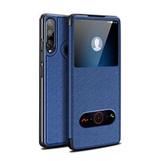 Funda de Cuero Cartera con Soporte Carcasa para Huawei Enjoy 10 Plus Azul