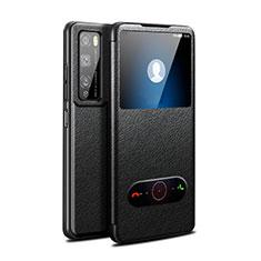 Funda de Cuero Cartera con Soporte Carcasa para Huawei Enjoy 20 Pro 5G Negro