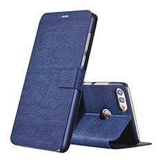 Funda de Cuero Cartera con Soporte Carcasa para Huawei Enjoy 8 Plus Azul